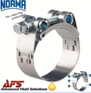 63mm - 68mm NORMA GBS Heavy Duty W4 Stainless Steel Clip T Bolt Super Hose Clamp